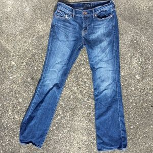 Lucky Brand distressed sweet'n low denim jeans